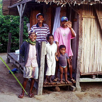 Jean Christian and his family with Elizé